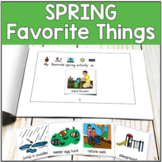 Spring Favorite Things Booklet with Visuals