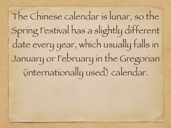 Spring Festival/ Chinese New Year