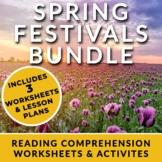 Spring Festivals - Reading Comprehension Worksheets with Full Lesson Plans