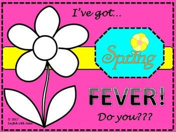 Spring Fever Activities Bundle and Picture Dictionary
