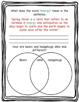 Spring Fever-Animal Style! Nonfiction Article-Read to Learn