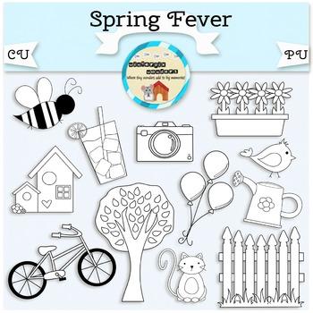 Spring Fever Clipart - nature - seasonal