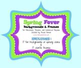 Spring Fever Frames Backgrounds Clip Art for Commercial Use