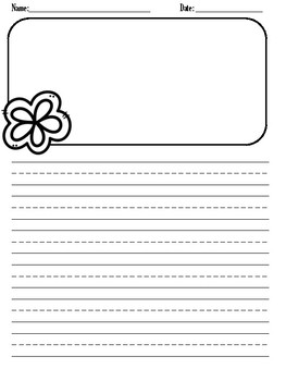 Spring Fever Independent Writing Papers