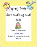 Spring Fever Vowel Sort