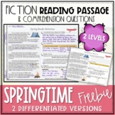 Spring Fiction Reading Passage FREEBIE