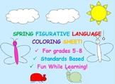 Spring Figurative Language Coloring Sheet