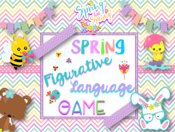 Spring Figurative Language Digital NO PREP Game