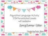 Spring Differentiated Figurative Language {Freebie!}