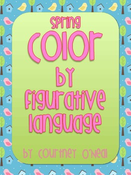 Spring Figurative Language Review Color-by-kind