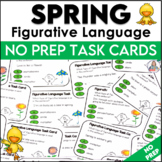 Figurative Language Activity | Spring Task Cards and Sort Cards