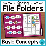 Spring File Folder Activities for Special Education and Autism – Basic Concepts
