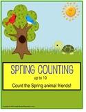 Spring File Folder Activities Count To 10 for Kindergarten, Pre-K, Autism