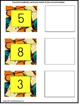 Spring File Folder Activities Count To 10 for Kindergarten, Pre-K, Autism
