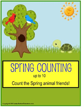 Spring File Folder Activities Count To 10 for Kindergarten