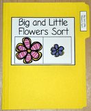 "Spring File Folder Game--""Big and Little Flowers Sort"""