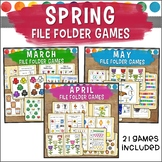 Spring File Folder Game Bundle