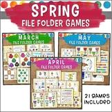 Spring File Folder Game Bundle