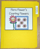 """Spring File Folder Game--""""Flora Flower's Counting Flowers"""""""