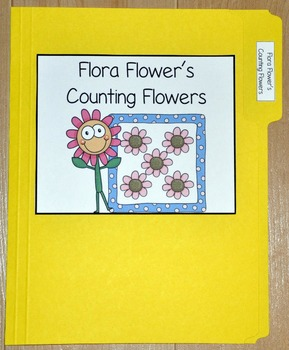 "Spring File Folder Game--""Flora Flower's Counting Flowers"""