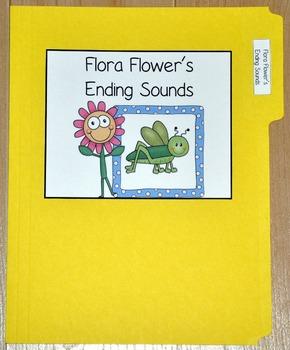 """Spring File Folder Game--""""Flora Flower's Ending Sounds"""""""