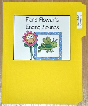 "Spring File Folder Game--""Flora Flower's Ending Sounds"""