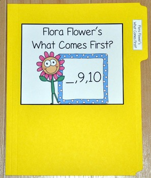 "Spring File Folder Game--""Flora Flower's Which Number Comes First?"""