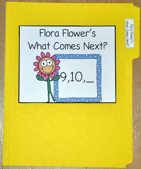 "Spring File Folder Game--""Flora Flower's Which Number Comes Next?"