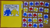 Spring File Folder Game:  Hoppy Frogs Color Sort 1