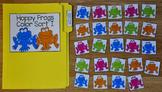 Spring File Folder Game:  Hoppy Frogs Color Sort 2