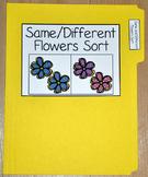 "Spring File Folder Game--""Same and Different Flowers Sort"""