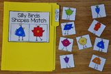 Spring File Folder Game:  Silly Birds Shapes Match