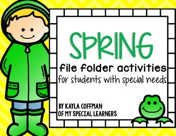Spring File Folders for Students With Special Needs