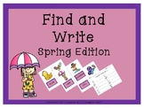 WRITE THE ROOM: Spring Find and Write