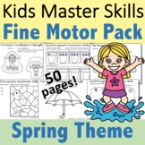 Spring Fine Motor Activities Pack - (With Math and Sight Words)