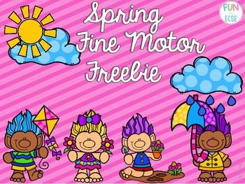 Spring Fine Motor Freebie