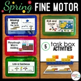 Spring Fine Motor Skills Task Boxes