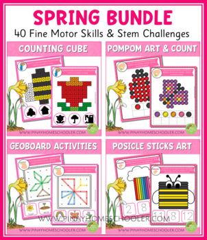 Fine Motor Skills Activities - Spring