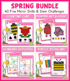 Spring Fine Motor Skills and Stem Challenges