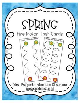 Spring Fine Motor Task Cards