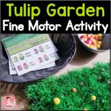 Spring Fine Motor Tulip Garden Activity