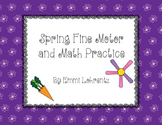 Spring Fine Motor and Math Practice