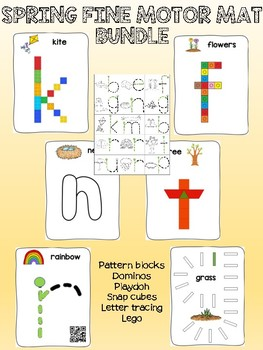 Spring - Fine motor mat - English bundle