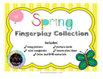 Spring Fingerplay Collection with Printables and SmartBoard file