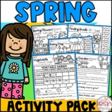 Spring First Grade Activity Packet (Take Home Packet) Dist