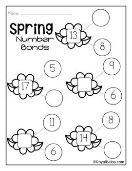 Spring First Grade No Prep Math Pack