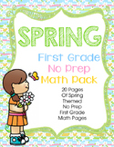 Spring First Grade No Prep Math Pack