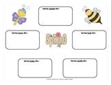 Spring Five Senses Graphic Organizer