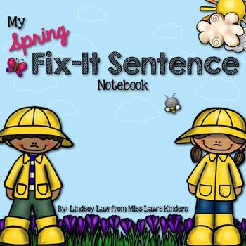 Spring Fix-It Sentence Notebook