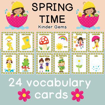 Spring Flash Cards Instant Download PDF; Preschool, Kindergarten, School